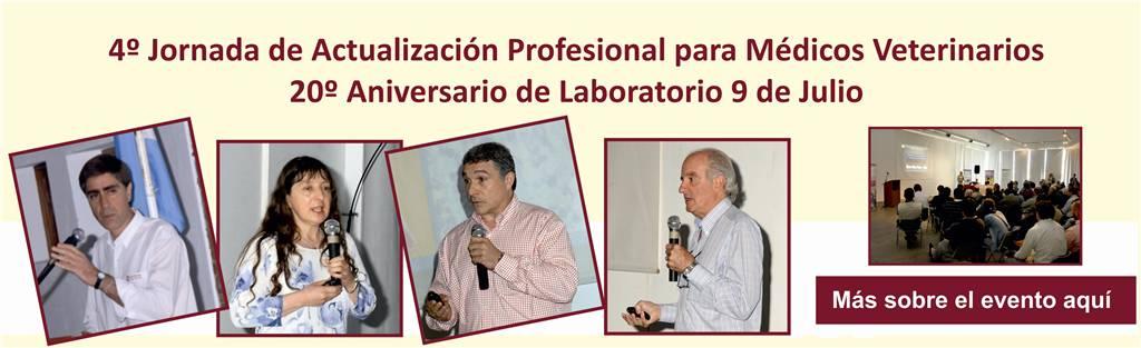 4º Jornada de Actualización para Médicos Veterinarios  – 20º Aniversario Laboratorio 9 de Julio